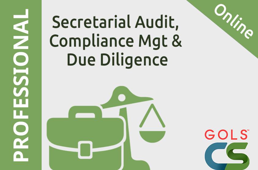 Secretarial Audit, Compliance Management and Due Diligence