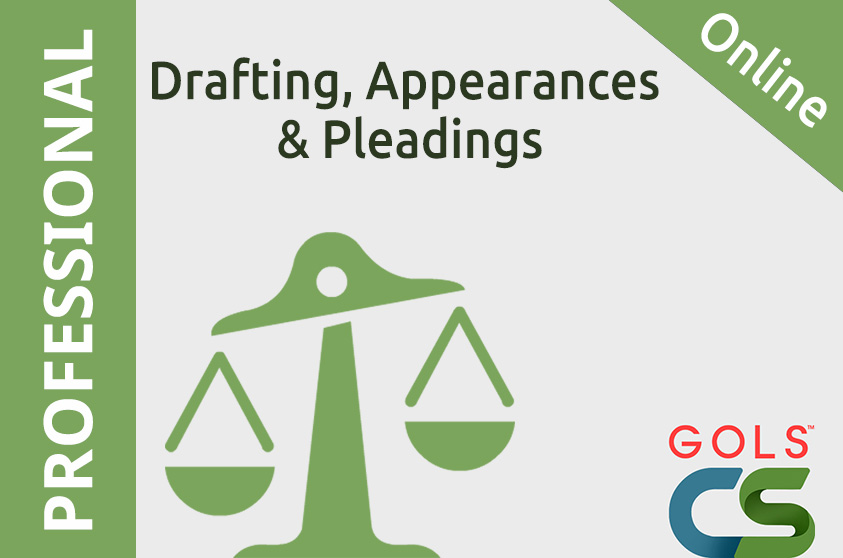 Drafting, Appearances and Pleadings